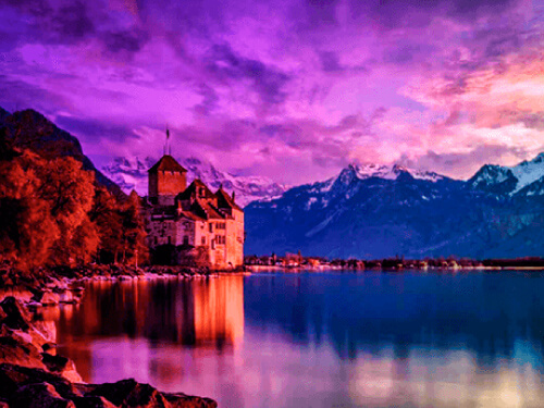 Lago Leman lugar novela erotica el amante